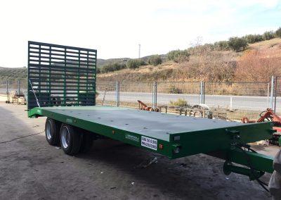 Plataforma 17.000 kg con rampa hidráulica
