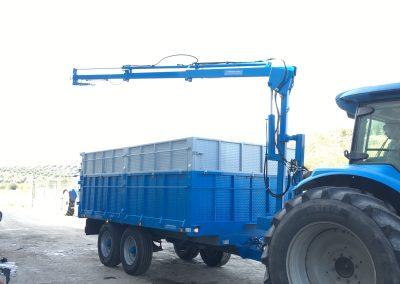 Remolque de 10.000 kg de carga y pluma